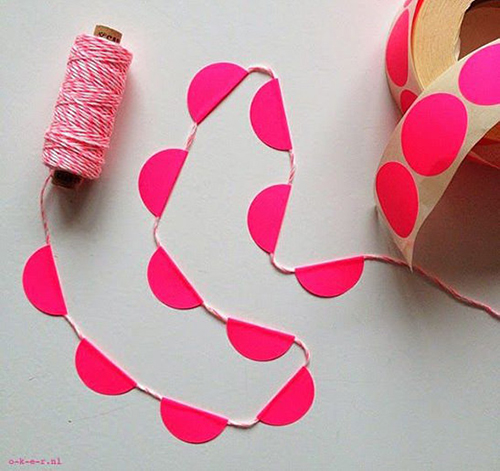 15d DIY Dot Sticker Garland 5-SUMMER-DIY