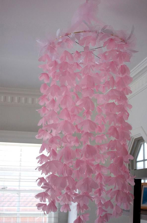 17d Chiffon and Tulle Flower Chandelier d91ecf703cbfa34b5753325251e21c8e