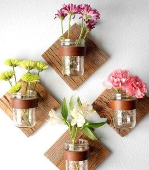 DIY flower wall decor